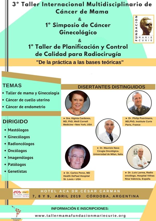 3er. Taller Internacional Multidisciplinario de Cáncer de Mama