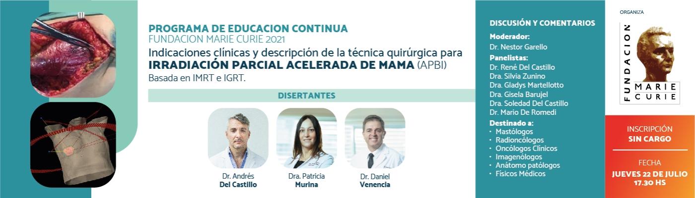 Indicaciones clínicas y descripción de la técnica quirúrgica para APBI